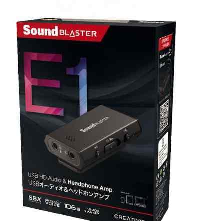 Портативный усилитель SoundBlasterE1 для наушников