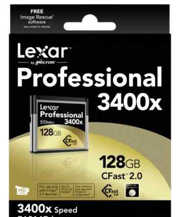 Lexar Professional 3400x 128GB CFast 2.0 Card