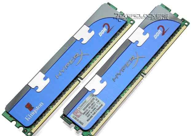 Модули памяти Kingston HyperX DDR2-800 по 1 GB 2шт