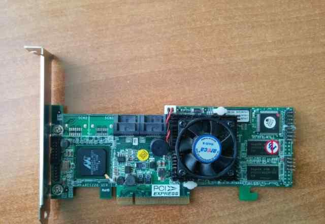 Raid PCI-E SATA контроллер 4 порта Areca ARC-1100