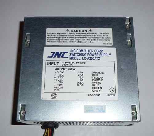 Блок Питания JNC 250W Рабочий