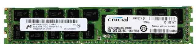 Память Crucial DDR3 ECC 8GB (Серверная)
