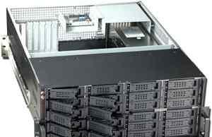 Корпус для сервера 4U на 24 диска бп 1200W новый