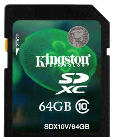 Карту памяти kingston sdxc 64GB Class 10