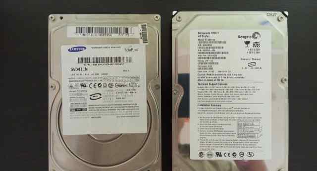 Жесткие диски Seagate и Samsung на 40 Gb IDE