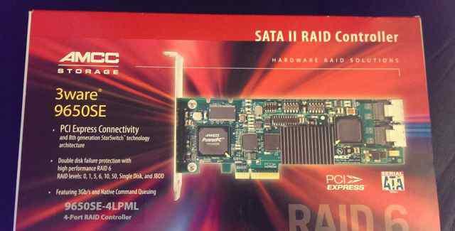 Raid Controller - amcc 3ware 9650SE-4lpml SATA II