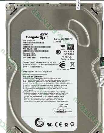 Жесткие диски Seagate Barracuda 320 и 250 GB