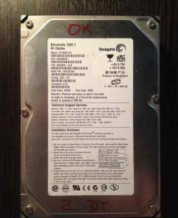 Жесткий диск IDE 80Gb Seagate ST380011A