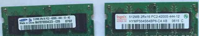 Память для ноутбука DDR2 512 MB