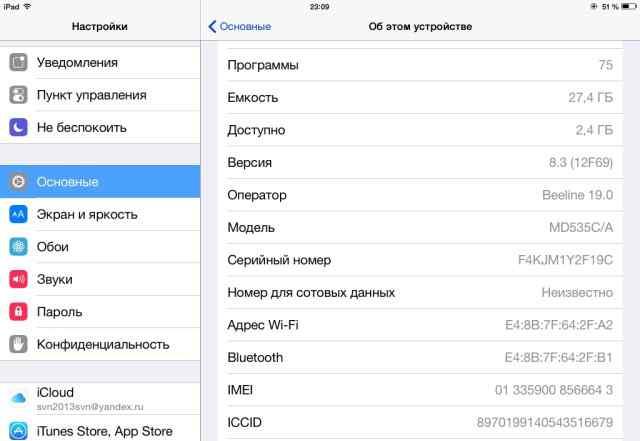 iPad 4 16 gb WiFi без проблем