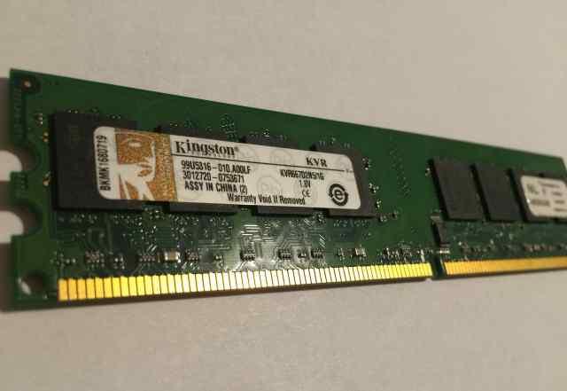 Оперативная память 1G Kingston KVR667D2N5/1G