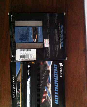 Corsair dominator DDR3 1600MHZ 2x1gb 4gb