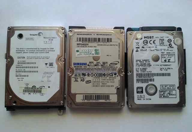 3 шт. hdd для ноутбуков