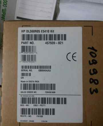 Новый HP DL360R05 E5410 Kit