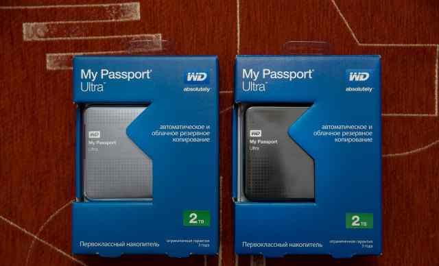 WD HDD 2тб новые Внешние жесткие диски