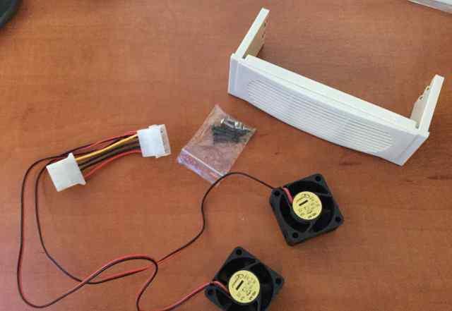 2 высокопроизводительных 4см DC вентилятора