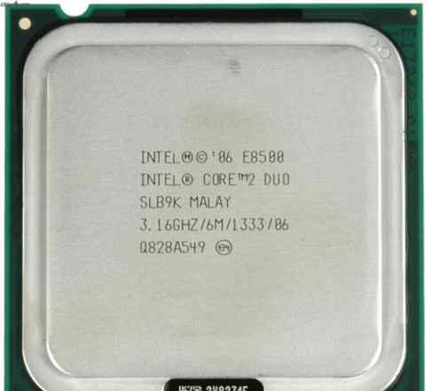 Intel Core 2 Duo E8500 (3166MHz, LGA775)