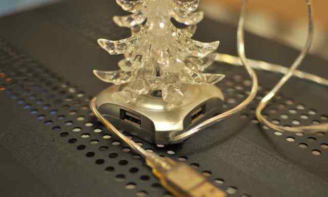 Разветвитель (HUB) USB 2.0 4 порта Ёлка