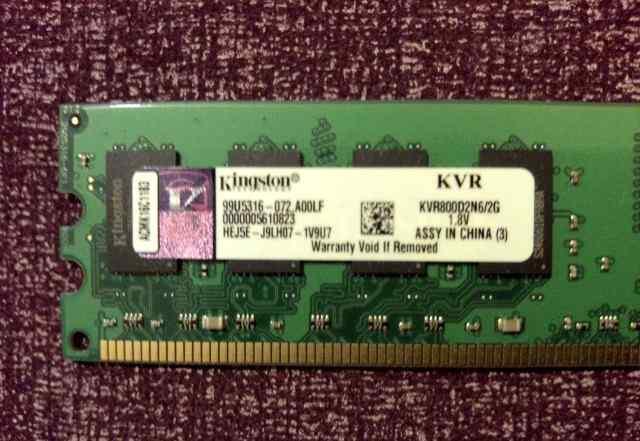 2 планки DDR2 Kingston KVR800D2N6/2G