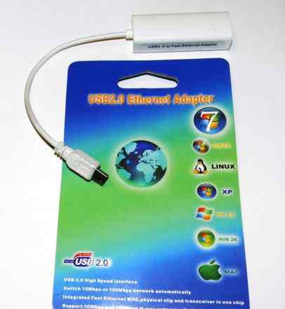 Мини USB 2.0 Ethernet 10/100 RJ45