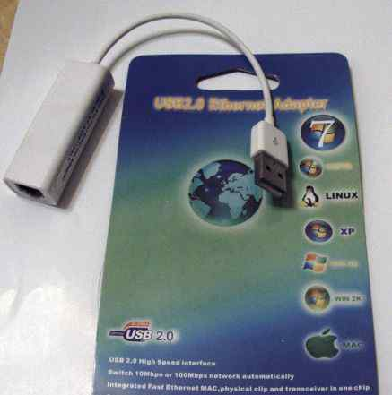USB 2.0 Ethernet 10/100 RJ45