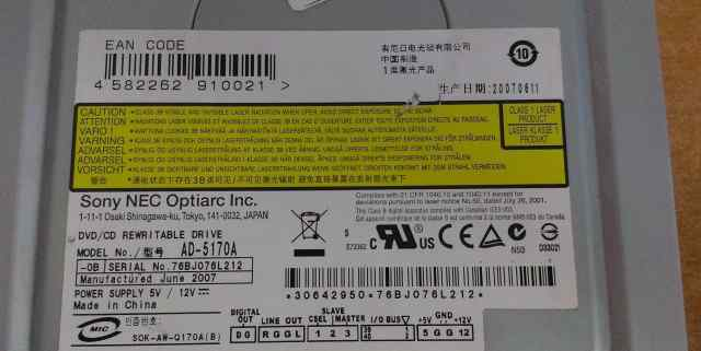 Sony NEC Optiarc AD-5170A