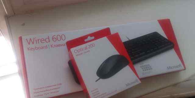 Клавиатура и мышь Microsoft, комплект