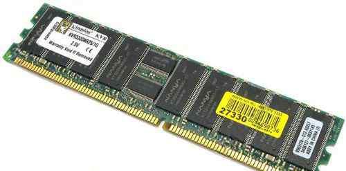 512мб DDR PC2700 dimm ECC Reg CL2.5 Kingston