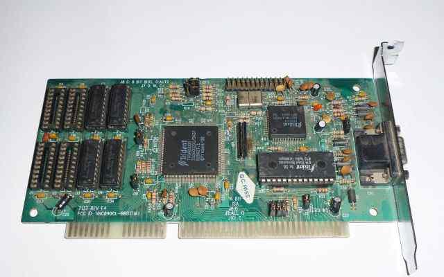 Видеокарта ISA Tridnet VGA ver C4 5