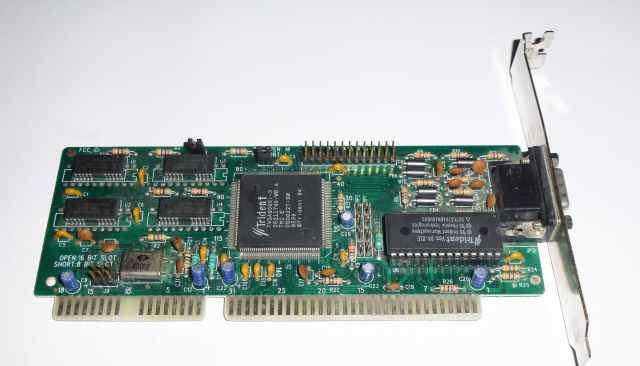 Видеокарта ISA Tridnet VGA ver D4