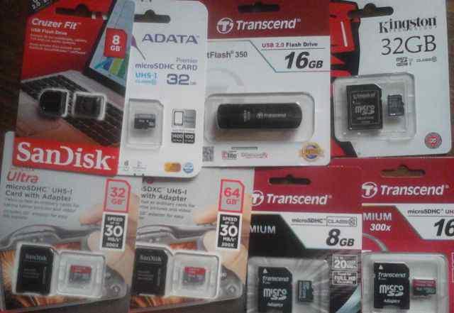 Любые MicroSD класс 10