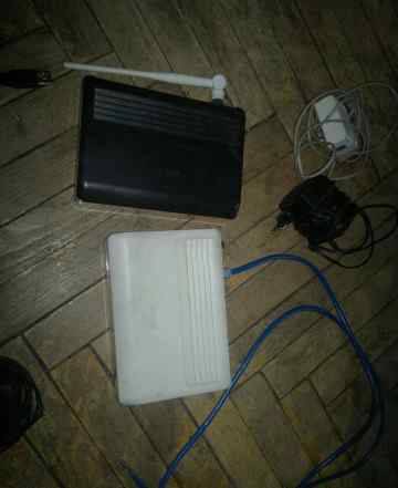 2 модема adsl modem asus am604 проводной