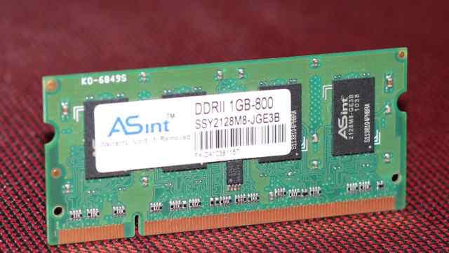 DDR2 1Gb 800 MHz для ноутбука