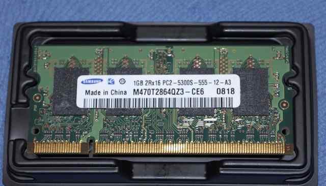 1GB PC2-5300S-555-12-A3 Samsung DDR2 SO-dimm