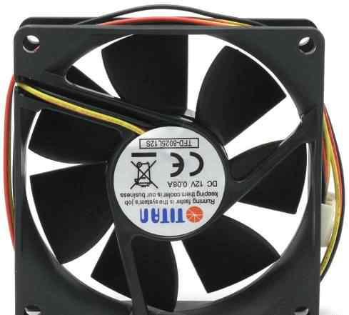 Вентиляторы Titan TFD-8025M12S 2шт