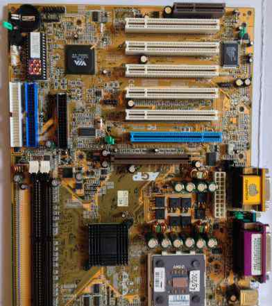 Материнская плата, AMD цп, 1gb память, сеть, кулер