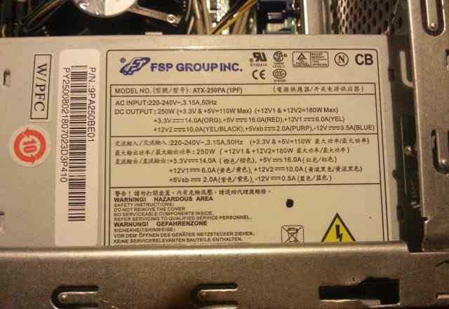 FSP group ATX-250pa (1pf) 250 Вт