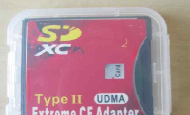 Адаптер CF card на SD card