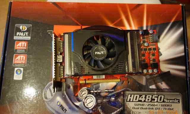 Продаю видеокарту Palit Radeon HD4850 Sonic 685Mhz