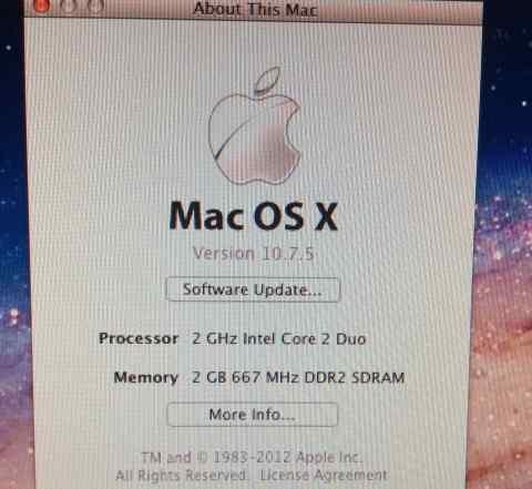 Apple Mac Mini dual-core 2GHz/500 Gb