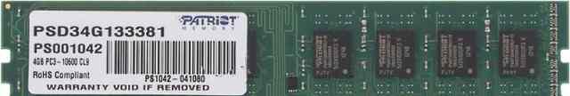 Оперативная память Patriot Memory PSD34G133381 4Gb