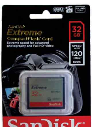 Sandisk Extreme CF 800X 32Gb 120 Mb/s Новая