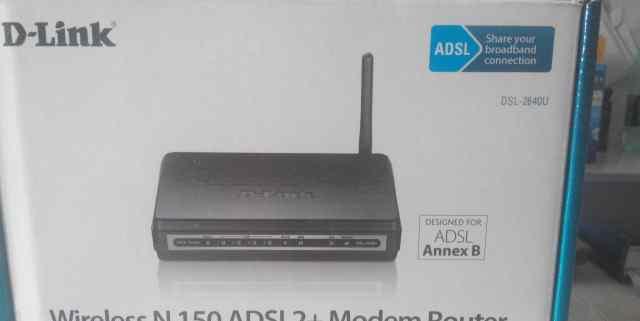 Модем беспроводной D-link DSL-2640U/NRU/CB4A