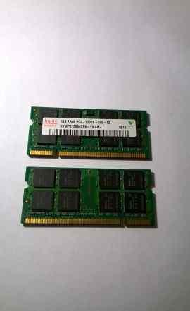 Оперативная память DDR2 667 SO-dimm 1Gb x 2