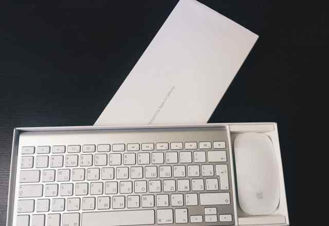 Apple Wireless Keyboard White + Mouse