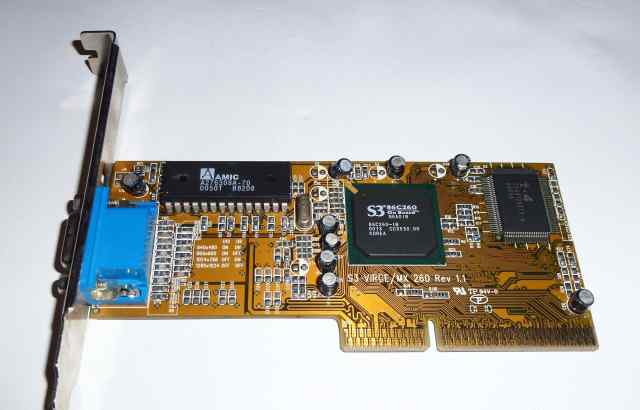 Видеокарта S3 Virge MX 260 Rev 1.1 4 Mb AGP