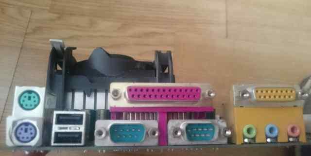 Мат плата с памятью, процессором, кулером