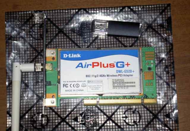 PCI WiFi адаптер D-Link DWL-G520G+