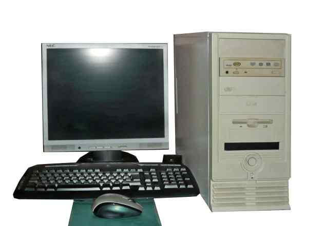 Компьютер старый, но рабочий, в комплекте