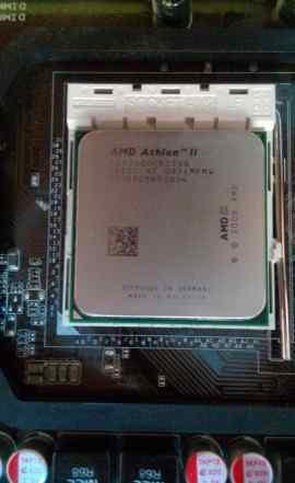 Цп AMD + материнская плата + 4гб озу + DVD привод